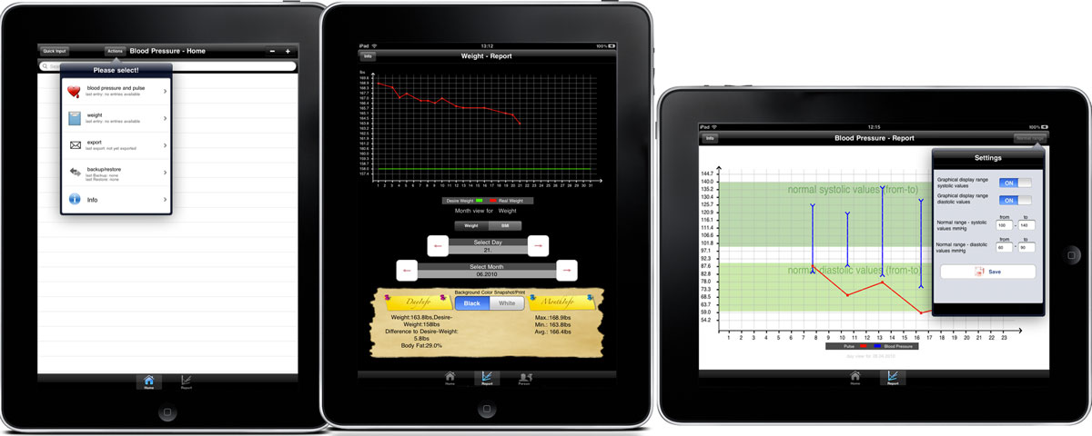 Weight+Blood Pressure - Body Values iPad