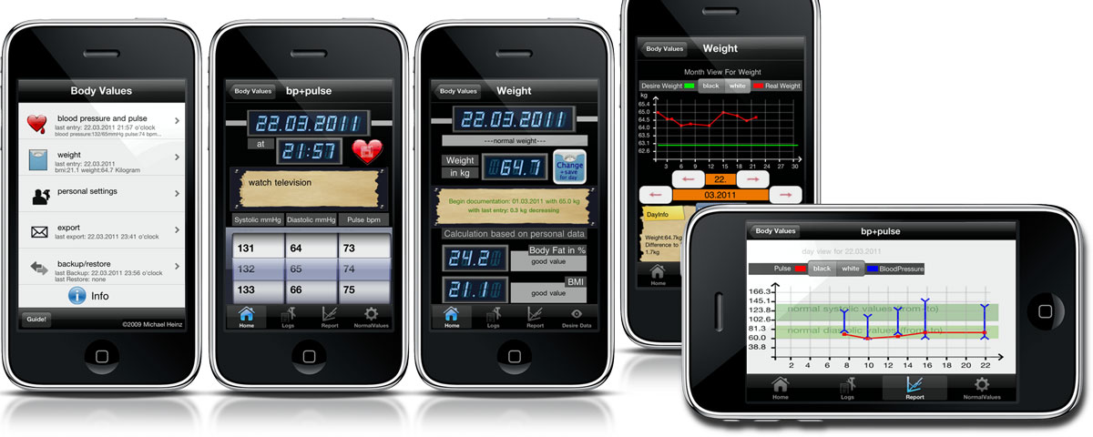 Weight+Blood Pressure - Body Values iPhone